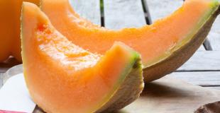 Crème de melon parfumée à la verveine